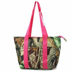 Large Insulated Lunch Bag Cooler Picnic Travel Women Tote Bags Pink Camouflage $11.09