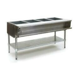 Eagle Group Awtp4 4-well Gas Steam Table W/ Galvanized Shelf And Safe Pilot