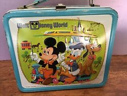 Vintage Lunch Boxes Metal With Thermos Walt Disney World