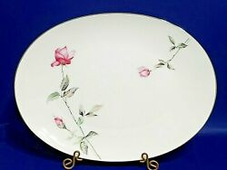 Beautiful Style House Dawn Rose 14 Serving Platter Mint Condition