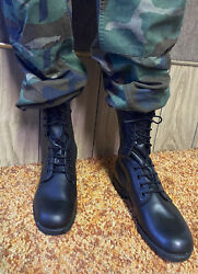 Military Surplus Combat Boots Menand039s Size 9r New Old Stock 1981 Black