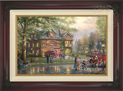 Thomas Kinkade Hometown Firehouse 18x27 Gp Canvas Limited Edition