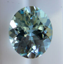 Natural Aquamarine 3.81ct Expertly Faceted In Germany +certificate Included