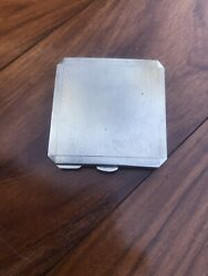 Antique Style Solid Silver Compact Case Box And Mirror Birm1947 William Neale Andson