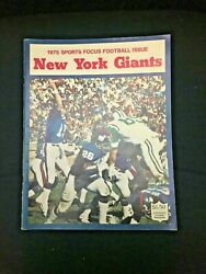 New York Giants Yearbook - 1975 Sports Focus Football Issue