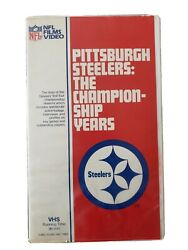 Official Nfl Films Video Pittsburgh Steelers The Championship Years Vhs 1982