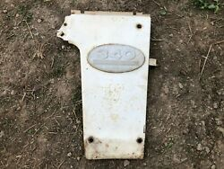 Ih Farmall 340 Row Crop Front Right Radiator White Cover Panel With Emblem