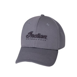 Indian Motorcycle Performance Hat With Embroidered Script Logo Gray