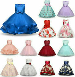 Flower Girl Princess Gown Baby Kids Party Bridesmaid Formal short Tutu Dresses