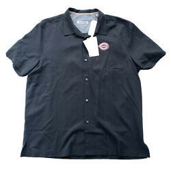 Tommy Bahama Reds Men's Camp Clutch Play Silk Shirt Black $175 Large L NWT $78.26