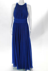Badgley Mischka Collection Blue Corundum Sapphire Gown 790 Size 10 10438553