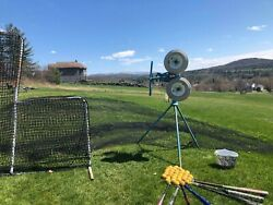 Jugs Pitching Machine With Bats Balls Batting Cage Net And L-screen.