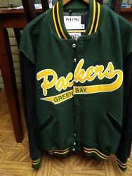 Green Bay Packers Vintage Wool/ Delong/ Xl Mint Condition/baseball Lettering/