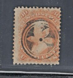 71 Used Radial 6-petal Flower In 2 Concentric Rings Cancel Athens, Ga Jh 6/3