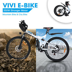🛴26and039and039 Folding Electric Bike Mountain Bicycle Adult Ebike 350w Stronger Motor