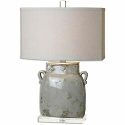 Uttermost 26613-1 Melizzano Ivory-gray Table Lamp