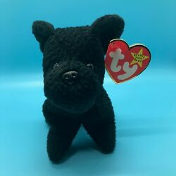 "TY Original Beanie Baby SCOTTIE TERRIER #4102 PVC ""1st EDITION"" Tags RARE ERROR"