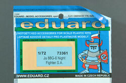 Eduard 73361 172 Ju 88G-6 Etching Parts For Night Fighter