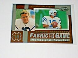 1999 Leaf Certified Fabric Of The Game Fg-46 Peyton Manning Colts /1000 Hof