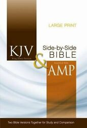 Kjv, Amplified, Parallel Bible, Large Print, Hardcover, Red Letter Edition T…