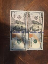 2009 A 100 Dollar Bill Star Note In Vary Good Condition