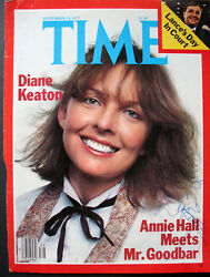 DIANE KEATON (ANNIE HALL) ORIGINAL AUTOGRAPH SIGN ON TIME MAGAZINE COVER (WOW)