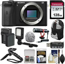 Sony Alpha A6600 Mirrorless Digital Camera Body With 128gb Card + Battery And Char