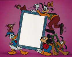 Disney Mickey Mouse Donald Duck Goofy Characters Animation Cel Photo Matte