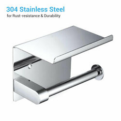 Aquaterior Toilet Paper Holder Wall Mounted Rack Stainless Steel Bathroom