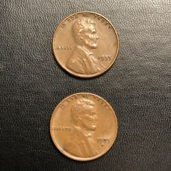 1955 And 1955d Lincoln Wheat Cent Error Coin Ddo Valuable Double Die Penny Rare 💰