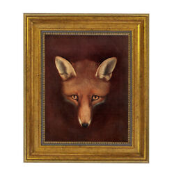 Framed Red Fox Painting Print On Canvas Equestrian Sporting Art Equestrian 8x10