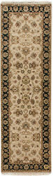 Rra 2.5x8 Runner 2and0396x8and039 India Agra Design Beige And Black Rug 43104