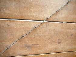 Dodge And Washburns Half Round On Galvanized Very Small Lines Antique Barbed Wire