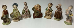 Wade Nursery Rhyme Fiqurines Vintage 1972 Collection Of 7 Or Sold Individually