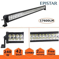 42inch 240w Led Light Bar Dual Rows Combo Beam For Jeep Suv,atv,4x4wd Pk 40/50