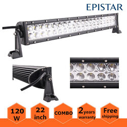 22 Inch 120w Led Light Bar Combo Offroad Driving Lamp 4wd Atv Truck Marine Boat