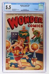 Wonder Comics 20 - Better 1948 - Cgc 5.5 - Airbrushed Cover. Last Issue