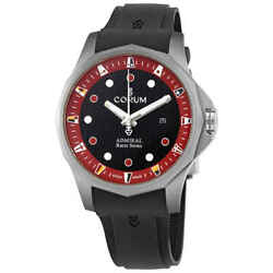 Corum Admiraland039s Cup Racer Black And Red Dial Automatic Menand039s Titanium 47 Mm