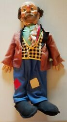 1950's Baby Barry Toy Co. Emmett Kelly's Willie The Clown Doll 21 Tall