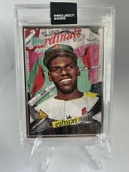 🔥🔥topps Project 2020 Bob Gibson Card 70 By Tyson Beck Artist Proof/ap /20 1959