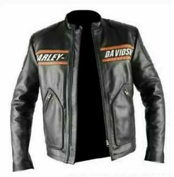 WWE Goldberg Bill Classic Men#x27;s Harley Davidson Black Leather Motorcycle Jacket $89.99