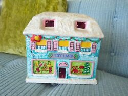 Vtg Christmas Village Toy Land