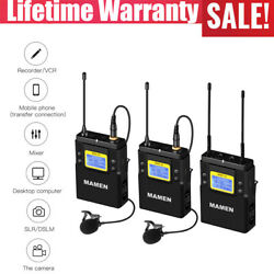 Mamen Wmic-01 Wireless Microphone+receiver 50ch 60m Range With Lcd For Cameras
