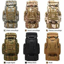 80L Molle Tactical Outdoor Military Rucksacks Backpack Camping Bag Travel Pouch $28.99