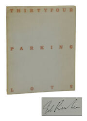 Thirtyfour Parking Lots Signed By Edward Ruscha First Edition 1967 1st Ed 34