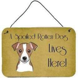 Carolines Treasures Bb1508ds812 Jack Russell Terrier Spoiled Dog Lives Here W...
