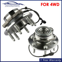 2 Pcs Front Wheel Hub Bearing Assembly W/ Abs For Chevy Gmc Truck 4x4 4wd New