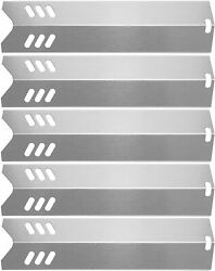 Hisencn 15 Stainless Steel Bbq Gas Grill Heat Plate Shield Tent Replacement For