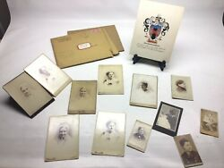 Harned Simonson Dawson Moore Family Photo Lot And Crest