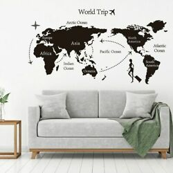 World Trip Map Vinyl Wall Stickers Kids Room Home Decorations Office Art Decals